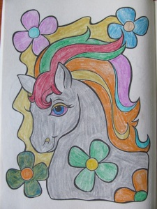 "I have spent many an evening coloring by candlelight in the ""My Pony and Friends"" coloring book."