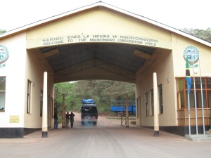 The entrance to the Ngorongoro Conservation Area.