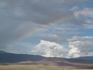 A rainbow over Ngorongoro.  This photo really doesn't do it justice.