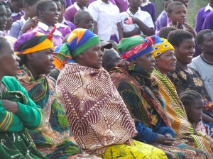 Some of the village mamas in the audience at Meesh's ceremony.