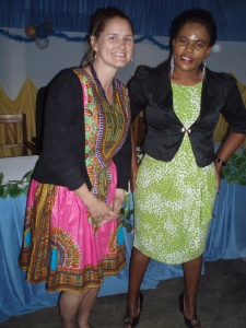 Me and Madame Ombene.  She was super kind and generous to me during my time in Ilembo.  A really cool, fun lady.