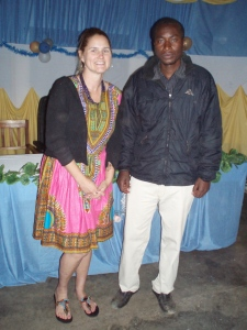 Me with Mr. Mwongoka, my library counterpart.  A nice guy and a total sharabara (sharp dresser).